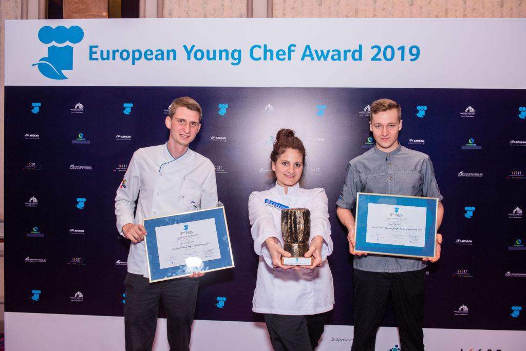 European Young Chef Award 2019_Eirini Giorgoudiou - Jure Dretnik - Han Kjellsson